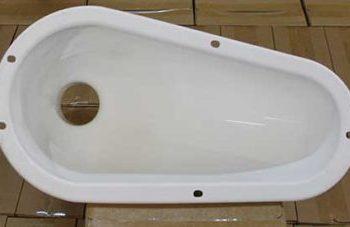 Pour Flush Latrine Pan for Squatting Slabs