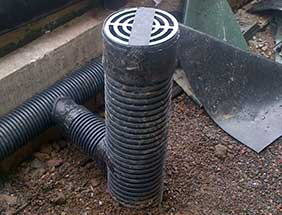 Ground level vent box example